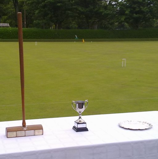 The trophies awaiting presentation
