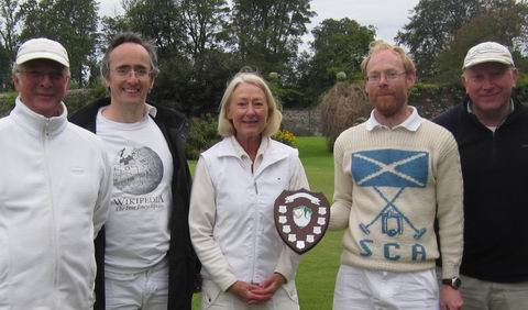 The players: Hamish, Robert, Janice, Fergus and Alistair